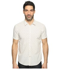John Varvatos Mayfiled Slim Fit Sport Shirt With Cuffed Short Sleeves W443t1b Milk Men's Clothing White