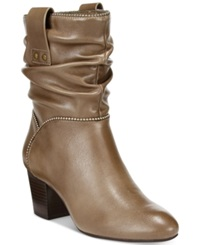 White Mountain Smile Slouch Booties Women's Shoes Taupe