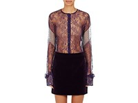 Nina Ricci Women's Lace Blouse Dark Purple
