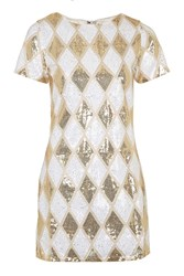 Herlequin Sequin Shift Dress By Rare White