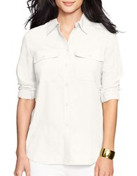 Lauren Ralph Lauren Collared Button Front Shirt