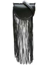 Thierry Mugler Fringed Crossbody Bag Black