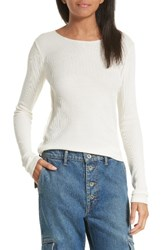 Vince Women's Thermal Pima Cotton Tee Sheep Skin