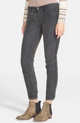 Free People 'Roller' Crop Corduroy Pants Stark Black