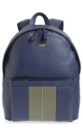 Ted Baker London Breads Leather Backpack Blue Navy