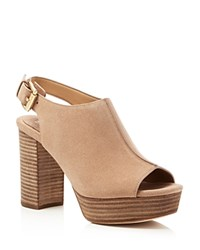 Michael Michael Kors Piper High Heel Platform Sandals Dark Khaki
