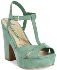 American Rag Jamie T Strap Platform Dress Sandals Only At Macy's Women's Shoes Watercress