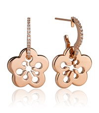 Boodles Signature Blossom Earrings Rose Gold