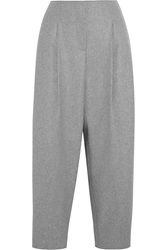 Acne Studios Murol Raw Wool Blend Felt Wide Leg Pants