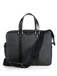 Gucci Gg Supreme Canvas Briefcase Grey Black