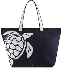 Vilebrequin Turtle Beach Bag Navy White
