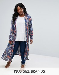 Alice And You Floral Printed Duster Coat Multi
