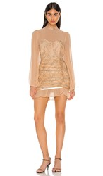 Privacy Please Jasmyn Mini Dress In Blush. Nude And Black