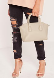 Missguided Mini Winged Tote Bag Grey Grey