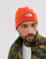 The North Face Dock Worker Recycled Beanie In Orange