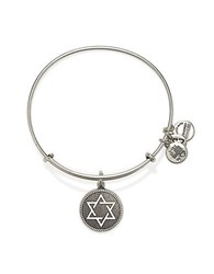 Alex And Ani Star Of David Charm Bangle Silver
