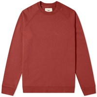 Folk Rivet Crew Sweat Red