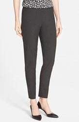 Petite Women's Halogen 'Taylor' Ankle Skinny Pants Heather Charcoal