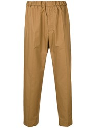 Jil Sander Relaxed Fit Trousers Brown