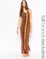 Glamorous Tall Aztec Print Maxi Dress Multi