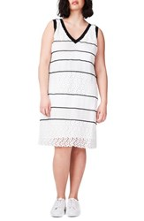 Elvi Plus Size Women's Lace Shift Dress Mono
