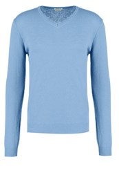 United Colors Of Benetton Jumper Blue Grey