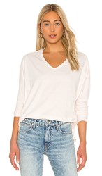 Frank And Eileen Deep V Neck Tee In Blush. Mademoiselle