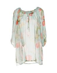 Femme By Michele Rossi Blouses Sky Blue