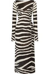 Marc Jacobs Zebra Print Stretch Jersey Dress Black