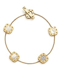 Roberto Coin 18K Yellow And White Gold Five Element Pois Moi Bracelet With Mother Of Pearl And Diamonds