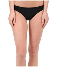 Solid Hipster Bottom Speedo Black Women's Swimwear