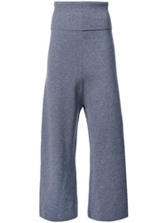 Stella Mccartney Ribbed High Waist Trousers Grey