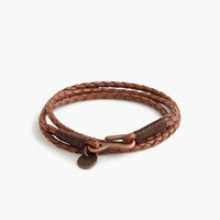 J.Crew Caputo And Co.Tm Braided Leather Bracelet Brown
