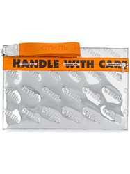 Heron Preston Handle With Care Clutch Polyurethane Polyester Cotton Polyamide Grey