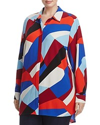 Vince Camuto Plus Marina Graphic Print Tunic Dynamic Red