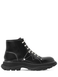 Alexander Mcqueen 40Mm Tread Studded Leather Ankle Boots Black