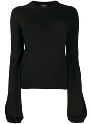 Rochas Slim Fit Crew Neck Jumper Black