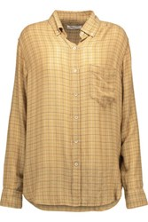 Etoile Isabel Marant Prune Checked Flannel Shirt Camel