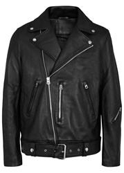 Acne Studios Nate Leather Jacket Black