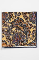Men's J.Z. Richards Silk Pocket Square Yellow Yelow