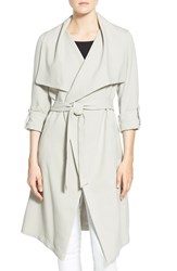 Soia And Kyo Women's Roll Sleeve Drape Front Long Trench Coat
