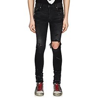 Amiri Broken Paint Splatter Jeans Black