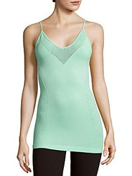 Nanette Lepore Striped Back Cutout Top Bright Mint