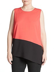Calvin Klein Plus Size Asymmetrical Hem Top Watermelon