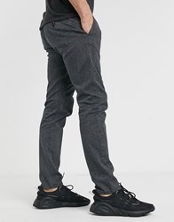 Tom Tailor Wool Look Chino In Grey
