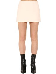 Valentino Couture Wool Blend Crepe Mini Skort Ivory