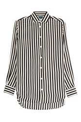 Polo Ralph Lauren Striped Silk Blouse Stripes