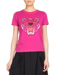 Kenzo Tiger Classic Pullover T Shirt Fuchsia