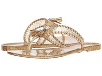 Jack Rogers Sparkle Alana Jelly Gold Women's Sandals