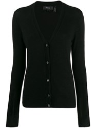 Theory Long Sleeve Cardigan Black